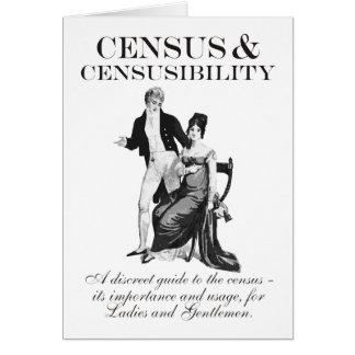 Censo y tarjeta de cumpleaños de Censusibility