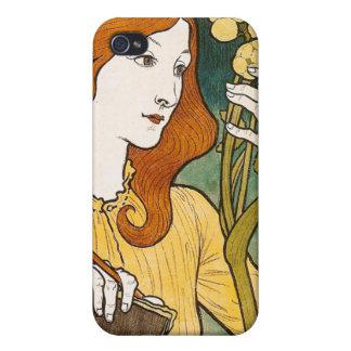 Centavo del DES del salón Eugène Grasset iPhone 4 Protectores