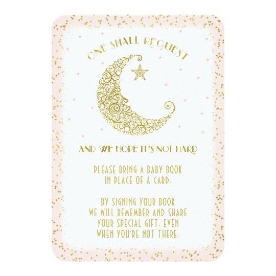 Centelleo de la petición del libro poca tarjeta de invitación 8,9 x 12,7 cm