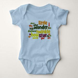 Centelleo del centelleo poca enredadera del niño body para bebé