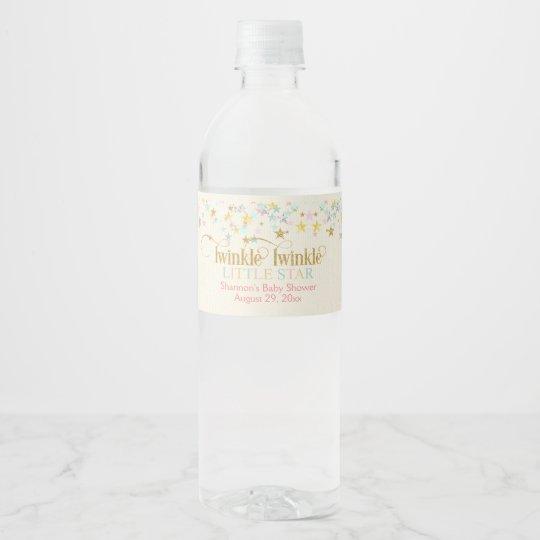 Centelleo del centelleo poco bebé del neutral del etiqueta para botella de agua