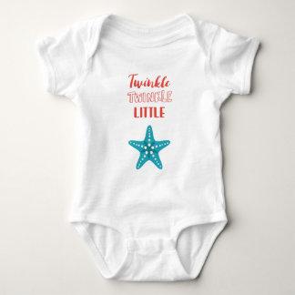 Centelleo náutico rojo y azul de poca estrella body para bebé