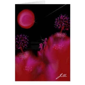 Centelleos de la fresa tarjeta de felicitación