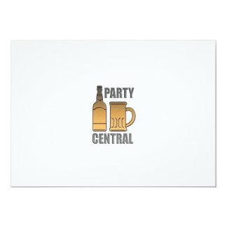 central de oro del fiesta de la taza de la botella invitación personalizada