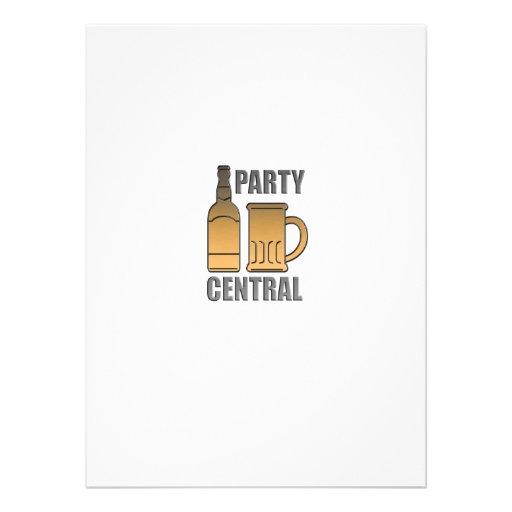 central de oro del fiesta de la taza de la botella anuncio personalizado