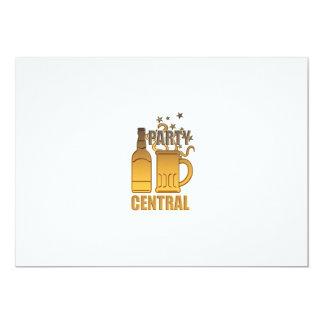 central de oro del fiesta de la taza de la botella invitación 12,7 x 17,8 cm