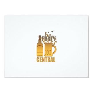 central de oro del fiesta de la taza de la botella invitación 16,5 x 22,2 cm