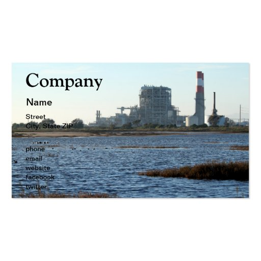 Central eléctrica tarjetas personales