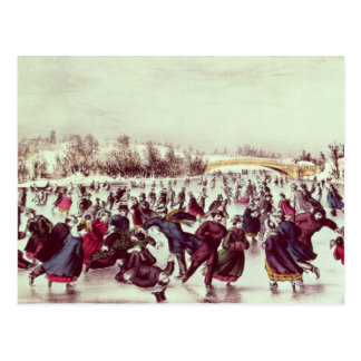 Central Park, invierno: El carnaval patinador Postal
