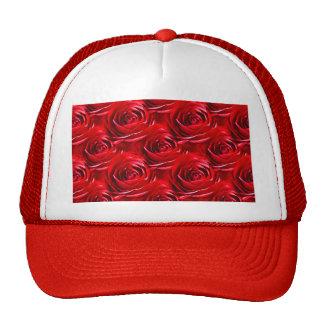 Centro abstracto del papel pintado del rosa rojo gorro de camionero