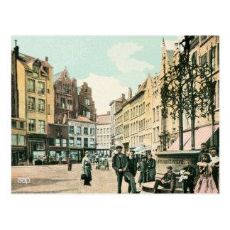 centro de ciudad de Amberes Bélgica de los 1900s Postal