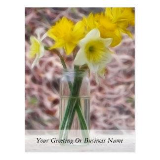 Centro de flores - narcisos tarjetas postales