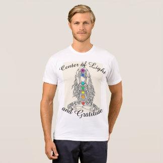Centro de la camiseta para hombre de la luz y de