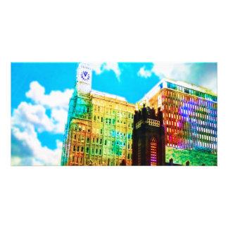 centro de la ciudad vibrante