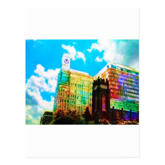 centro de la ciudad vibrante postal