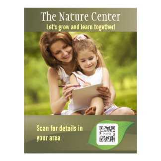 Centro de la naturaleza de la plantilla del folleto 21,6 x 28 cm