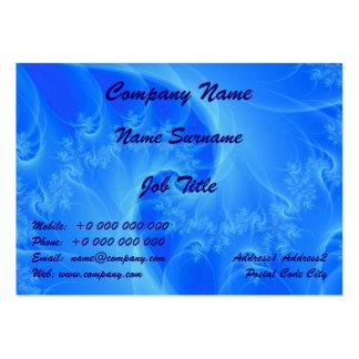 Centro de los azules tarjetas de visita grandes