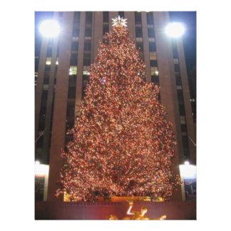 Centro de Rockefeller del árbol de navidad Flyer A Todo Color
