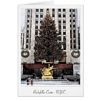 Centro de Rockefeller - New York City Tarjeta De Felicitación