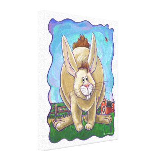 Centro del fiesta del conejo lienzo