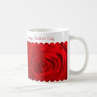 Centro del rosa rojo taza de café