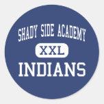Centro lateral sombrío Pittsburgh de los indios de Etiqueta Redonda