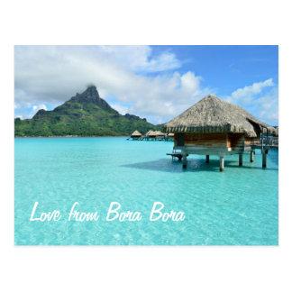 Centro turístico de Overwater en el texto del amor Postal