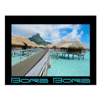 Centro turístico de Overwater en tarjeta de texto