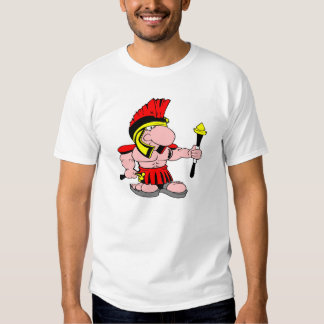 Centurian blanco Sparton romano Camisetas