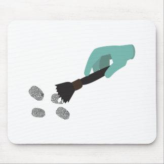 Cepillo de la huella dactilar alfombrilla de ratón