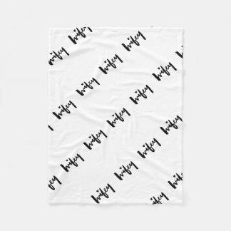 Cepillo de Wifey que pone letras a la almohada Manta Polar