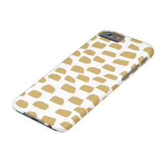 Cepillo del oro - caso del dispositivo de funda barely there iPhone 6
