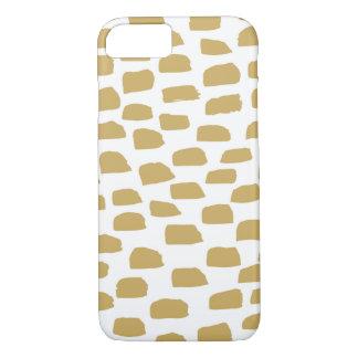 Cepillo del oro - caso del dispositivo de funda iPhone 7