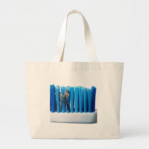 Cepillo fresco abstracto de Dino Bolsas De Mano
