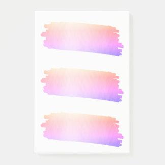 Cepillo rosado de la acuarela de la lavanda del notas post-it®
