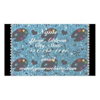 cepillos conocidos de la paleta del pintor del tarjetas de visita