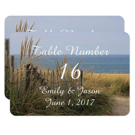 Cerca de la playa en las dunas de arena invitación 8,9 x 12,7 cm