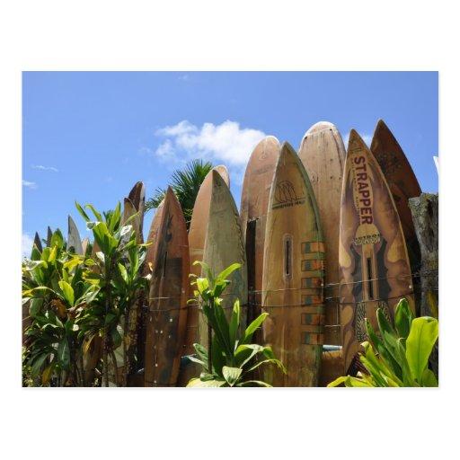 Cerca de la tabla hawaiana de Maui Postal