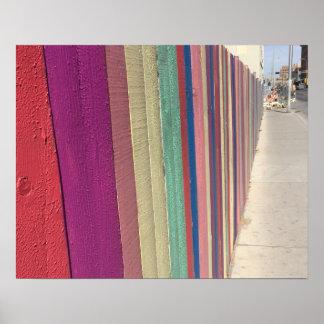 Cerca del arco iris póster
