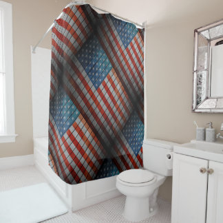 Cerca pintada de la bandera americana