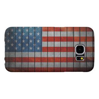Cerca pintada de la bandera americana funda samsung galaxy s6