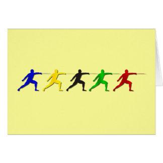 Cercadores del Epee que cercan deportes para mujer Tarjetón