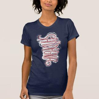 Cerdeña, tipografía salvaje camiseta