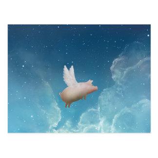 cerdo a la postal de las estrellas