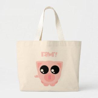 cerdo bolsa de tela grande