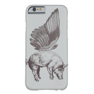 Cerdo con las alas funda de iPhone 6 barely there