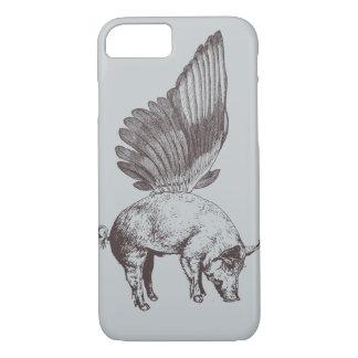Cerdo con las alas funda iPhone 7