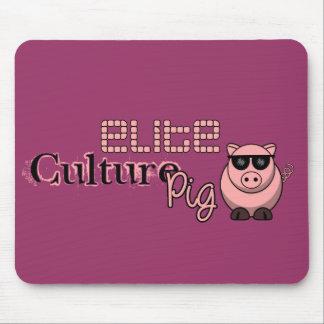 Cerdo de la cultura de la élite tapetes de ratones