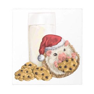 Cerdo de la galleta del navidad bloc de notas