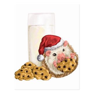 Cerdo de la galleta del navidad postal